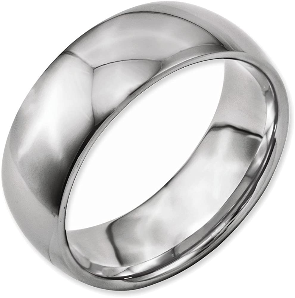 Jewelry Adviser Rings Titanium 8mm Polished Band Size 8