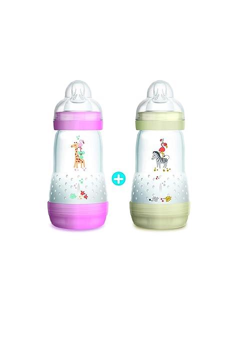 MAM - Biberones anticólico para bebé (de 0 a 6 meses, 2 x 260 ml) (5442895)