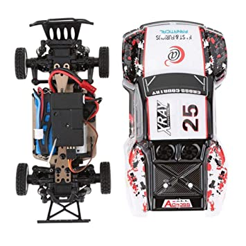 Mini RC Coche WLtoys K999 1:28 2.4G 4CH RTR Off-Road Control Remoto RC Car de Alta Velocidad 30Km / H aleación Chasis Estructura Racing Vehículo: Amazon.es: ...