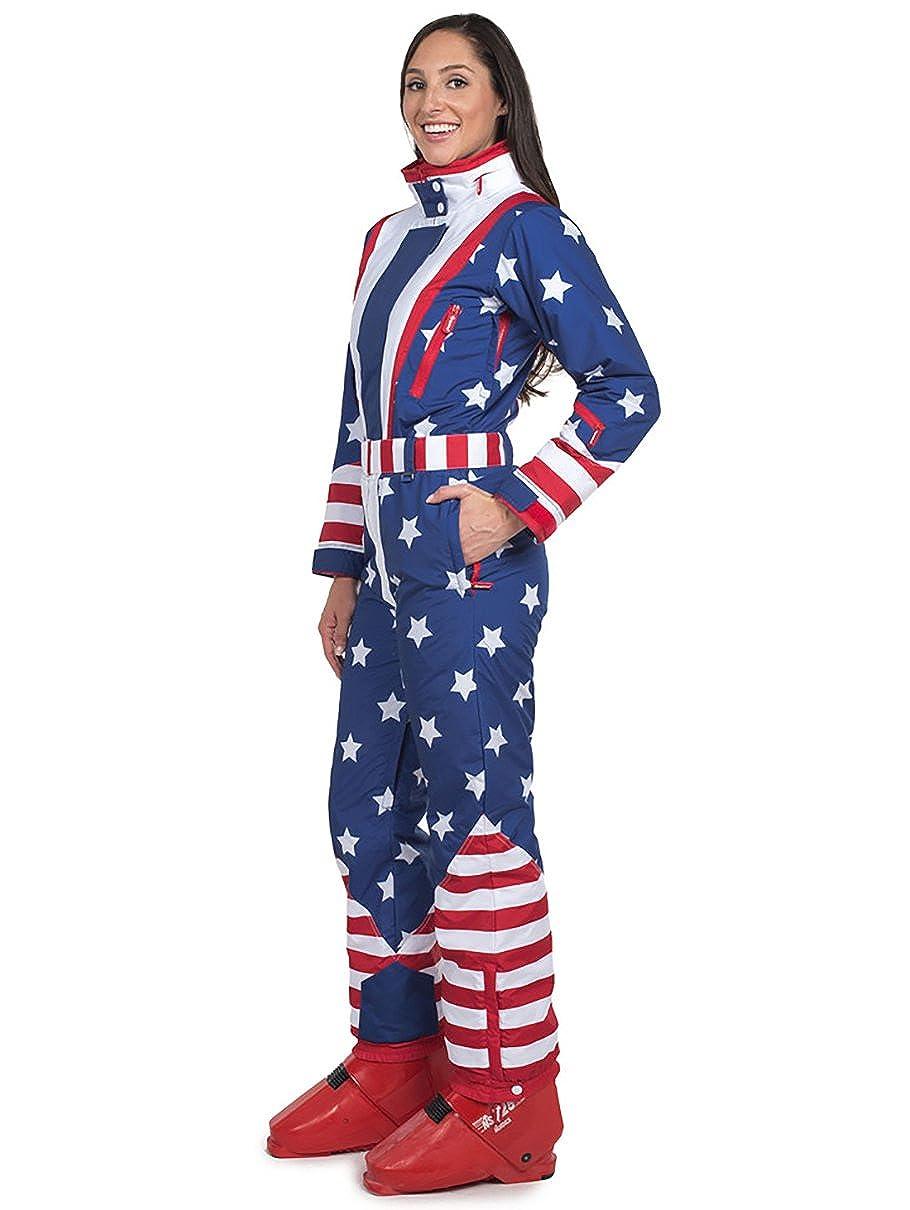 Amazon.com  Tipsy Elves Women s American Flag Patriotic Ski Suit - Retro  80 s Inspired USA Snow Suit for Female  Clothing f6a51c1cf