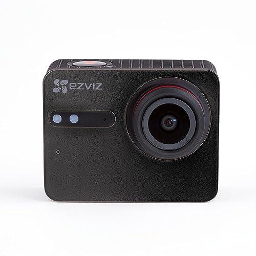 EZVIZ S5 Plus 4K Caméra Sport Action,  12MP, Boîtier étanche, Grand angle 158°, Écran tactile 3,5 pouces, Wi-Fi Dual Band, BLE 4.0., 1 Batterie rechargeable, Microphone Dual, Port carte SD, Proc