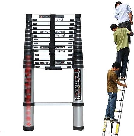 Escaleras plegables aluminio Escalera Telescópica de Aluminio Portátil, Escalera Extensible Con Mecanismo de Bloqueo con Resorte for Uso en Despachos en el Hogar, Costillas Antideslizantes Capacidad d: Amazon.es: Hogar