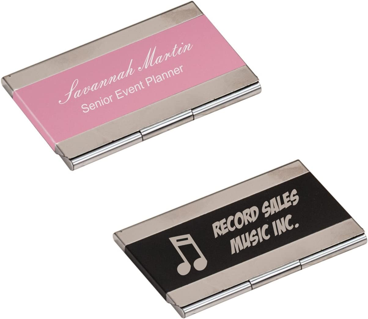 Custom Personalized Engraved Business Card Holder- BRAND NEW