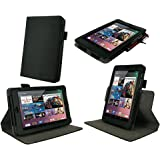 rooCASE Dual-View Multi Angle (Black) Vegan Leather Folio Case Cover for Google Nexus 7 Tablet