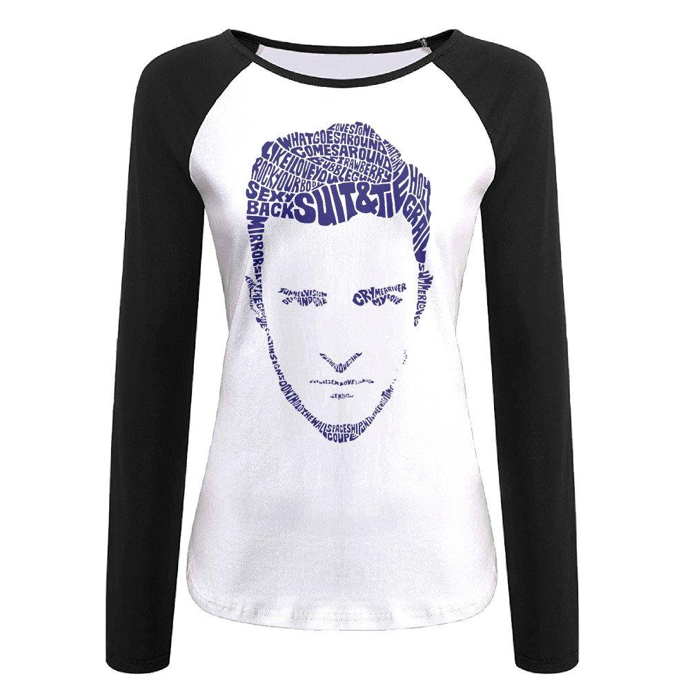 AIJFW Justin Timberlake Women's Crewneck Reglan Sleeve T-shirt