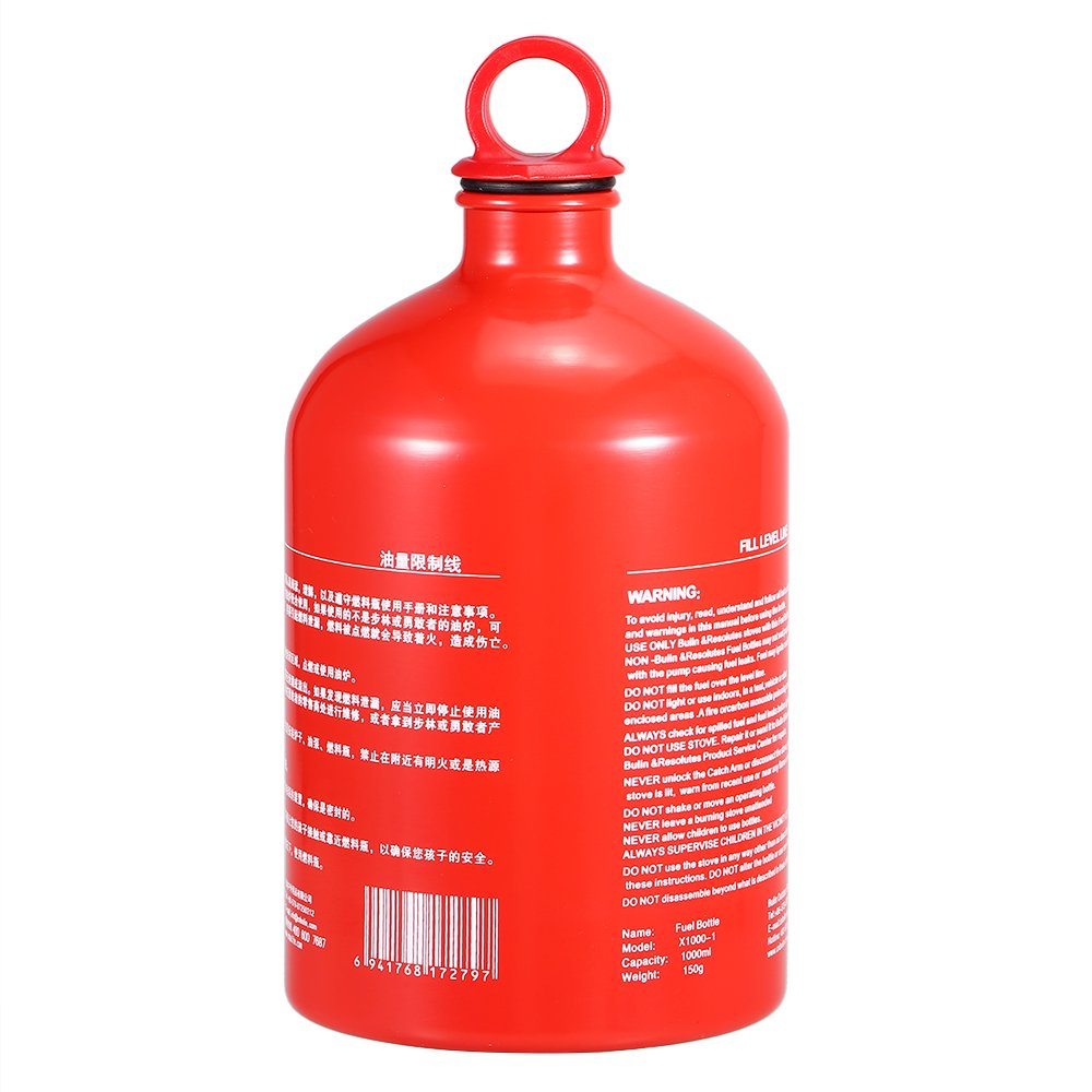Lixada Outdoor Camping Fuel Bottle Alcohol Petrol Kerosene Storage Bottle Fuel Can Empty Bottle 500ML/750ML/1000ML/1500ML