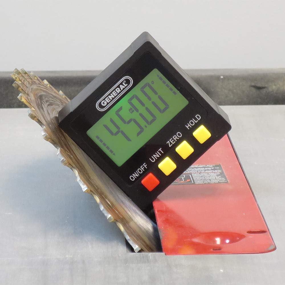 Large Backlit LCD General Tools 824X Backlit Digital Bevel Box Angle Finder Magnetic Base Rotating Display