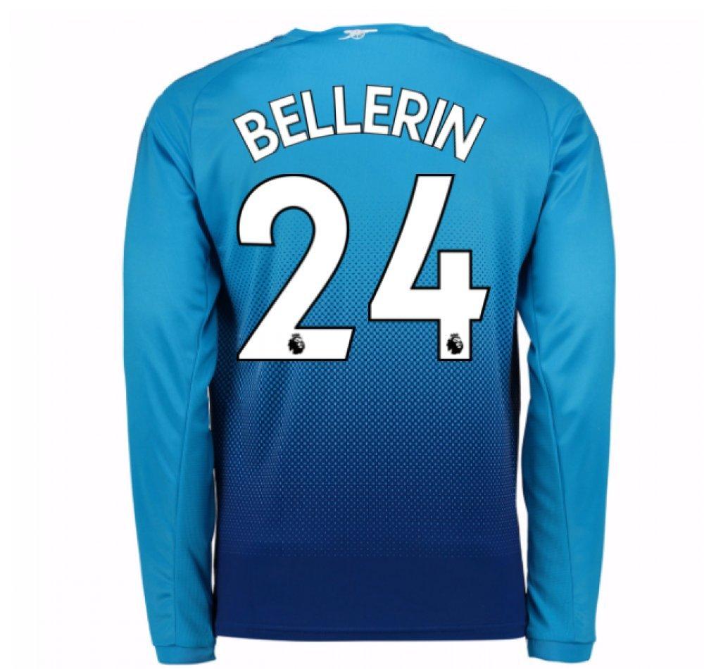 2017-2018 Arsenal Away Long Sleeve Shirt (Bellerin 24) B077PJYVT7Navy XXL Adults