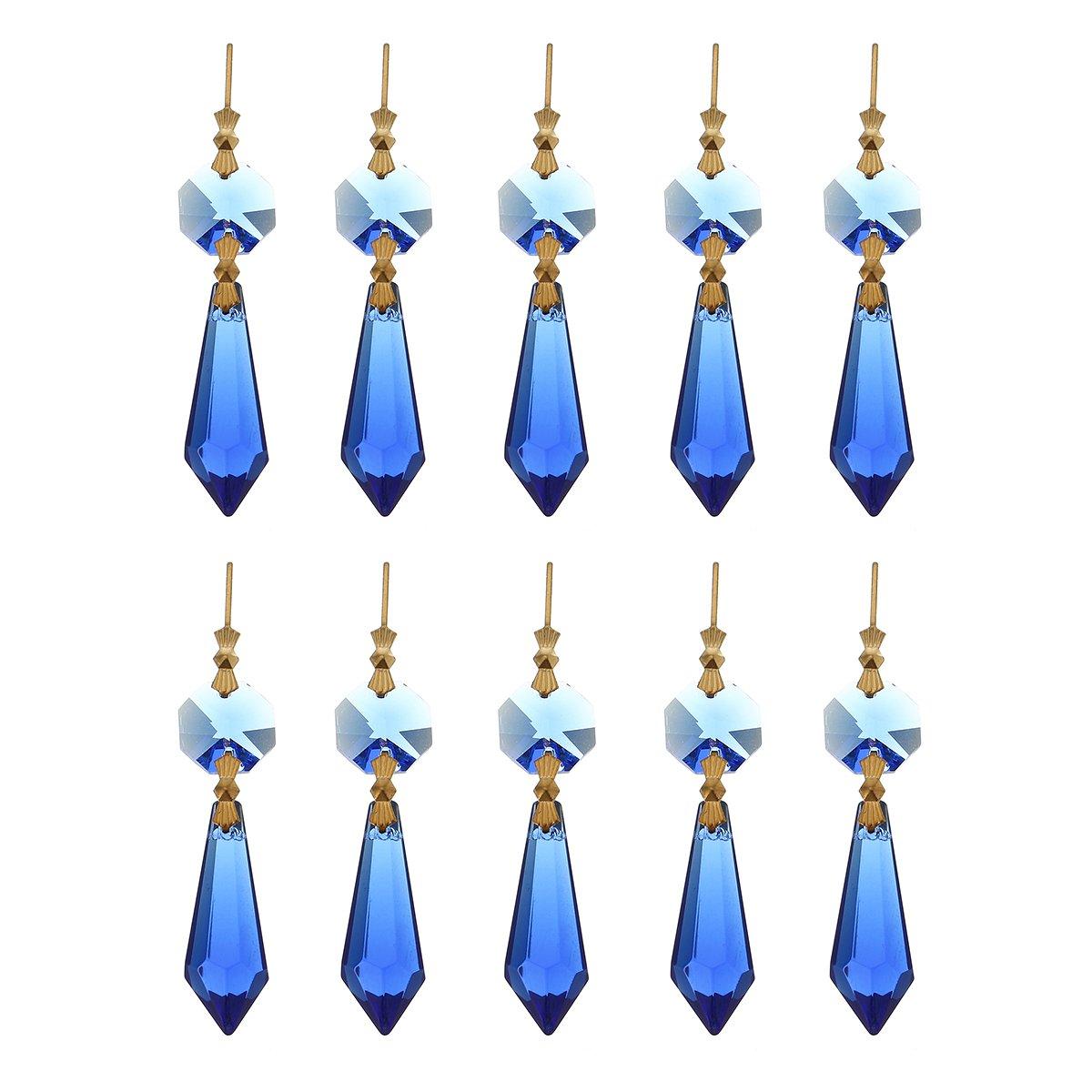 10 piezas dDanke Colgante de cristal colorido con forma de gota de l/ámpara Amber