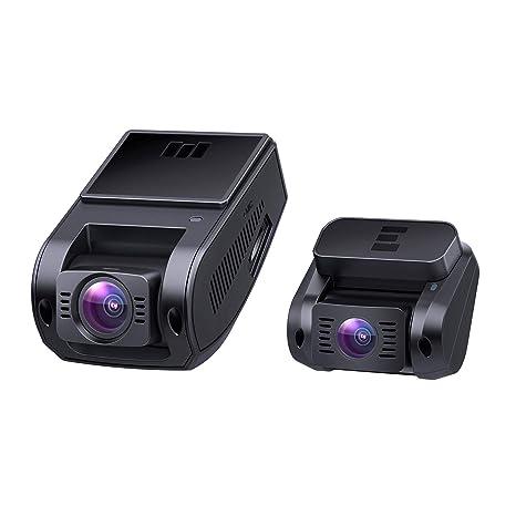AUKEY Dash Cam 1080P Cámara Frontal y trasera 6-Carril 170°Gran Ángulo, Supercondensador, WDR Visión Nocturna Cámara Coche con G-Sensor, Loop de ...