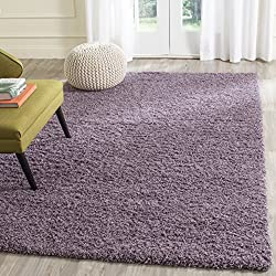 Safavieh Laguna Shag Collection SGL303P Purple Area Rug (3' x 5')