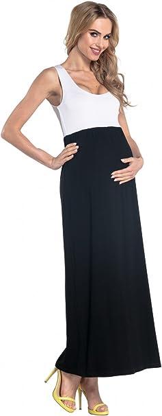 Donna Maxi Vestito pr/émaman per LAllattamento Tasche Laterali .012p HAPPY MAMA