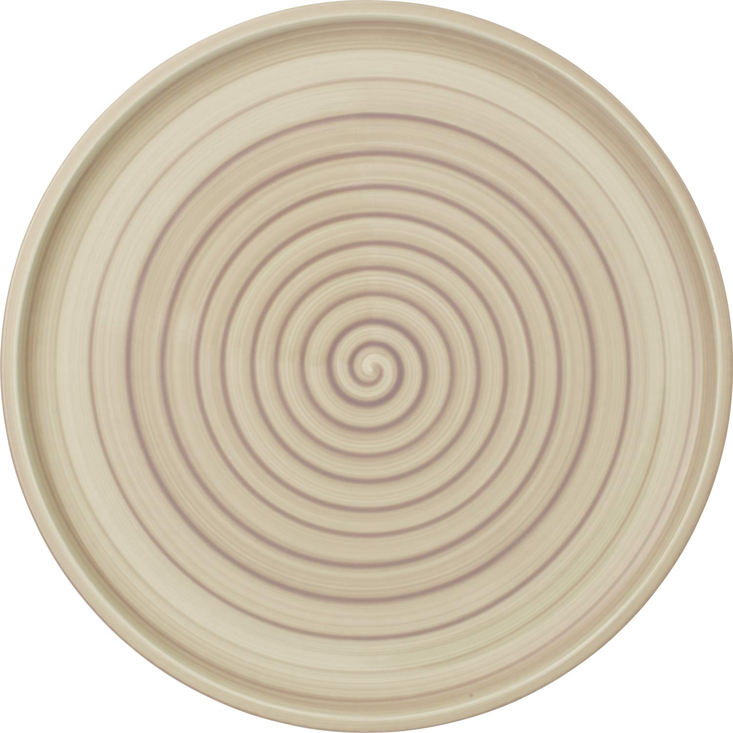 Artesano Nature Beige Buffet/Pizza Plate by Villeroy & Boch - Premium Porcelain - Made in Germany - Dishwasher and Microwave Safe - 12.5 Inches by Villeroy & Boch
