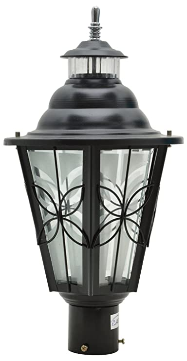 Glow Fixtures Garden Gate Light Penta Big Black