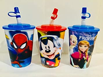 Buy Fancy 3D Printed Sipper Glasses With Straw And Lid For Kids Best As Birthday Return Gifts Online At Low Prices In India