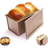 Hovome Toast Mold Nonstick Toast Bread Baking Pan Square Cake Carbon Steel Baking Tray Baking Beginners and Cake Lovers