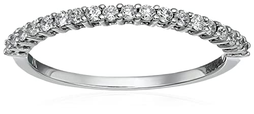 Kobelli 1/4 cttw Round Diamond 14k White Gold Wedding Band