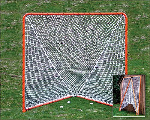 EZGoal Lacrosse Folding Goal, 6 x 6-Feet, Orange