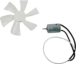 BLACKHORSE-RACING White 6 inch RV Fan 12V D - Shaft Replacement Camper Fan Blade Bathroom Fan Home Bathroom Mobile Home RV Motor