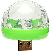 iTimo Lámpara LED de ambiente para coche, cambia de color RGB con USB para discoteca, karaoke, DJ, escenario, fiesta…