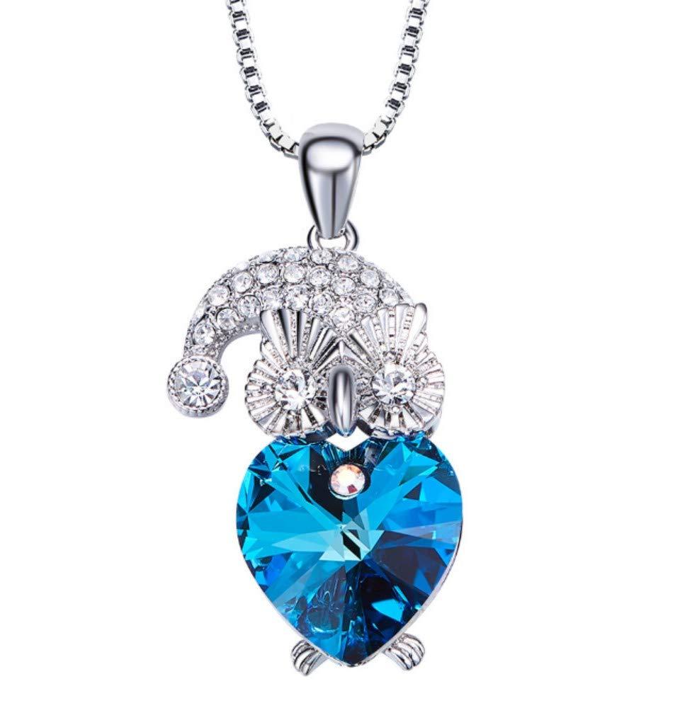 QWERST女性ネックレススターリングシルバーフクロウペンダントシンプルファッション絶妙なネックレス最高の贈り物   B07NQ1PJWV