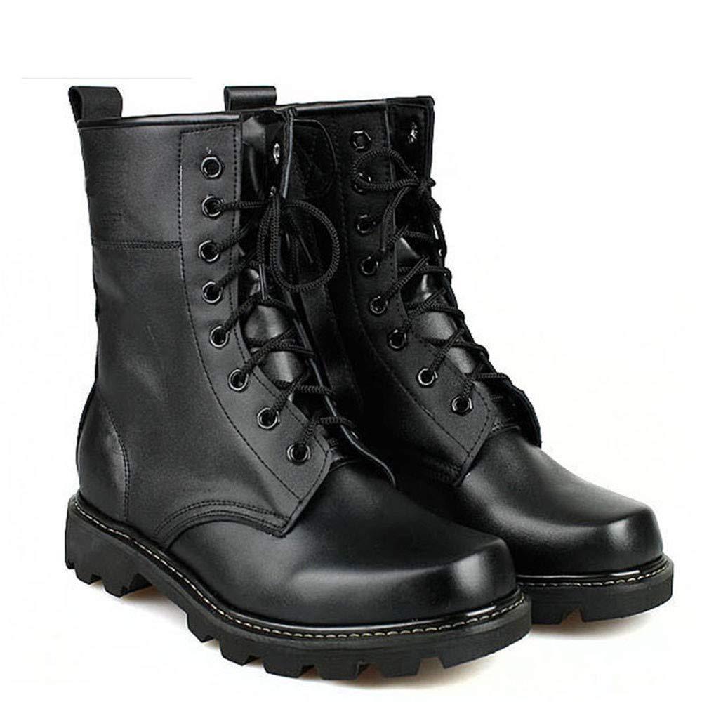 IDNG Chaussures Basket Bottes Militaires pour Hommes, Acier, Bout Rond, Bottes D\'Armée, Bottes De Combat Tactiques À Lacets