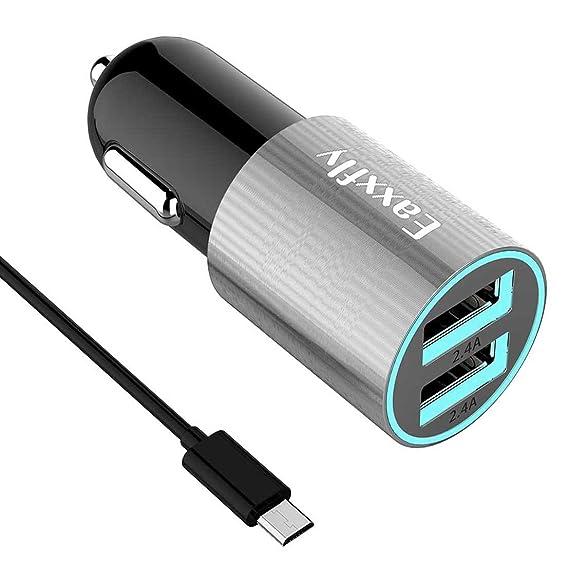 Amazon.com: eaxxfly Cargador de coche USB, cargador de coche ...