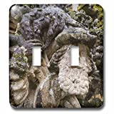 3dRose Danita Delimont - Religion - Face sculpture, Manueline Window, Convent of Christ, Tomar, Portugal - Light Switch Covers - double toggle switch (lsp_277808_2)
