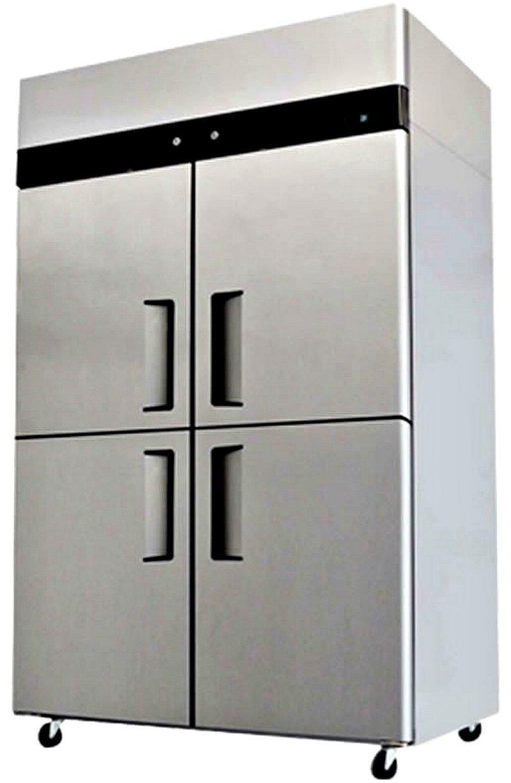 48'' Refrigerator Freezer Combination Four Doors Commercial Restaurant 30 Cu. Ft. 304 Grade Stainless Steel 2 Digital Controls 5 Year Compressor Warranty Model YBL9342