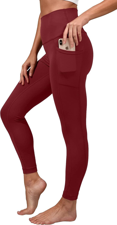 Yogalicious Lux High Waist Elastic Free Side Pocket Ankle Legging: Clothing