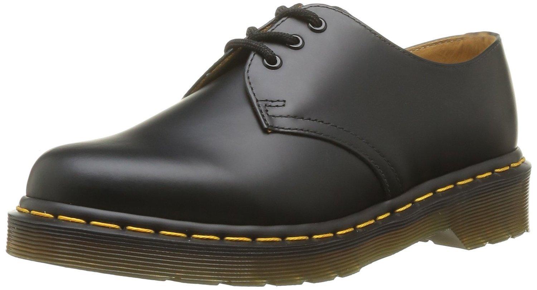 Dr. Martens Men's 1461 3 Eye Shoe,Black Nappa,9 UK/10 M US
