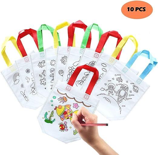 Bolsas de graffiti para niños, 10 bolsas de algodón pequeñas para ...