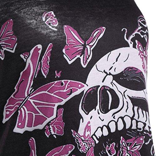 Schmetterling Kleid Schwarz Size Damen Plus Schädel Tunika Bluse Igemy Xxl-5xl