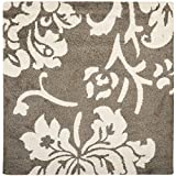 Safavieh Florida Shag Collection SG458-7913 Smoke and Beige Square Area Rug (6'7″ Square) Review