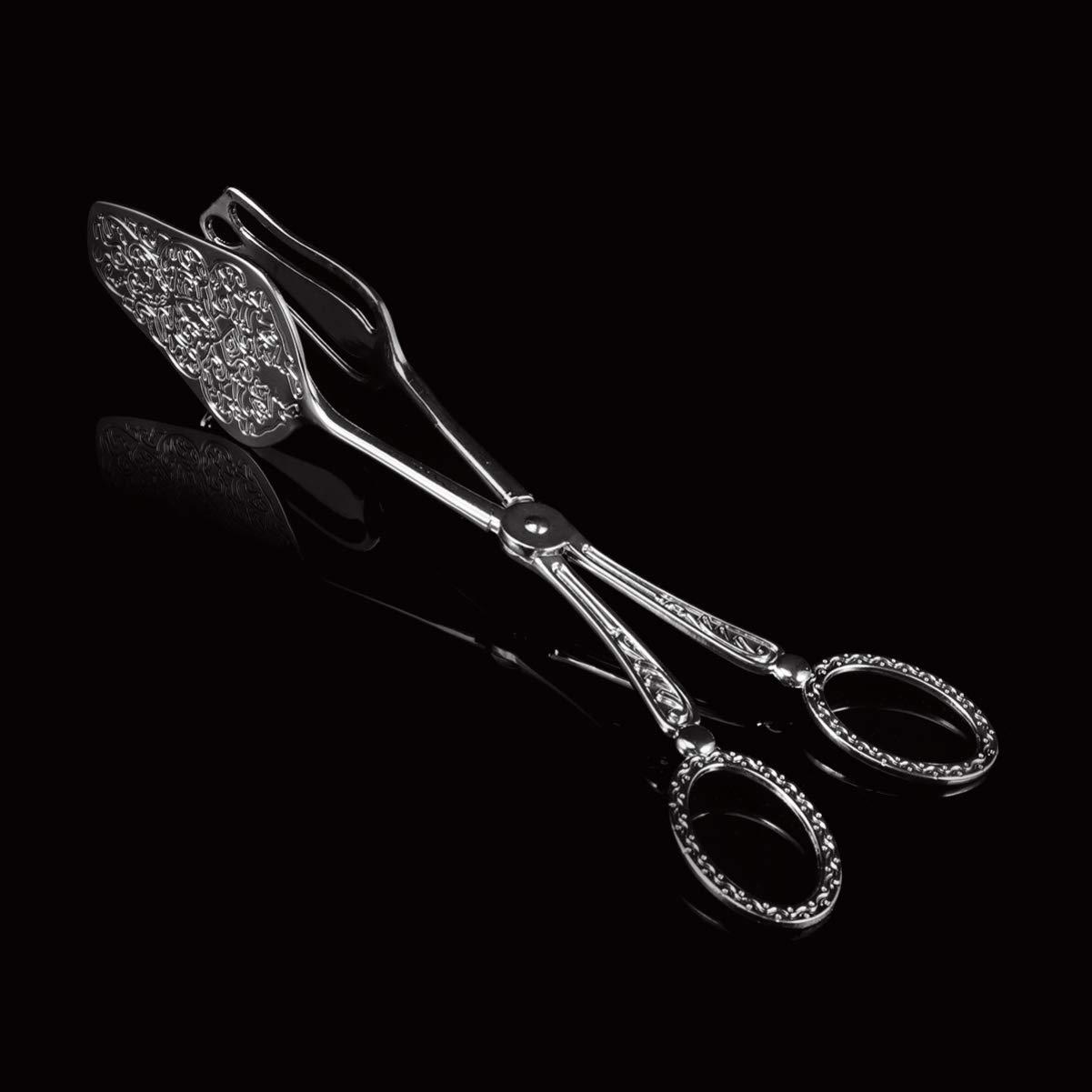 UPKOCH Servierzange K/üchenzange Buffetzange Brotzange Zange zum Kochen Grillen Servieren Kuppelkopf Cuspidal Head M 1