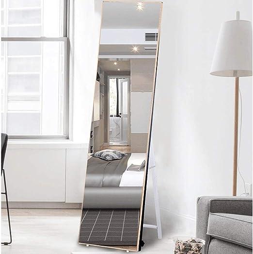 Espejo del Cuerpo Espejo Colgando de la Puerta Hogar Dormitorio para Estudiantes Perforación Libre Colocación de la Pared Espejo Colgante de la Puerta Espejo del Piso 40 * 160 cm Espejo de