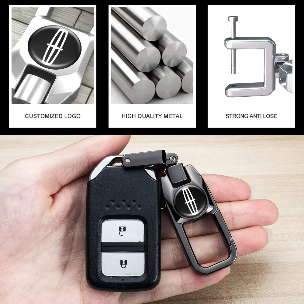 Goshion 2 Pack Car Logo Keychain Suit for Infiniti Keychains Keyring Family Present for Man and Woman
