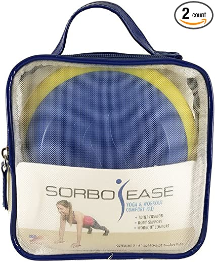 Set of 2 with Travel Bag Sorbo-Ease Yoga /& Workout Comfort Pad