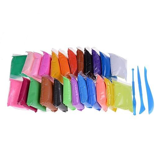 24 colores pequeño arcilla polimérica modelado bloques de arcilla ...