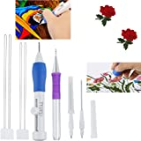 Embroidery stitching punch needle,Magic Embroidery Stitching Punch Pen Set Craft Tool for Embroidery Threaders DIY Sewing