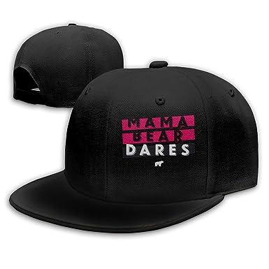 Adult Mama Bear Casual Trucker Cap Hat Black