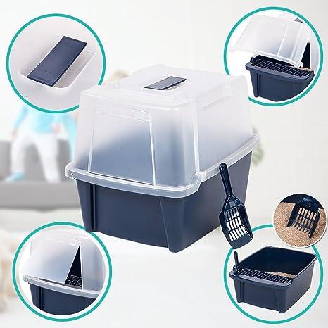 Amazon.com: Gato caja de basura cesta tres Extra Alto de ...