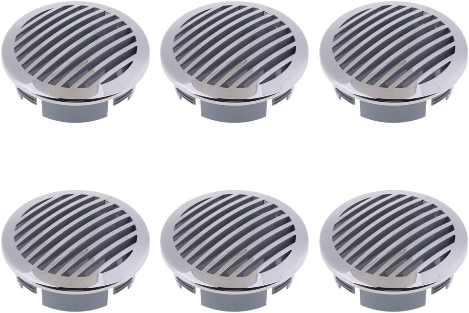 """2Pcs RV Boat 4/"""" 100mm Stainless Steel Curved Clad Airflow Vent 81933SS-HP"""