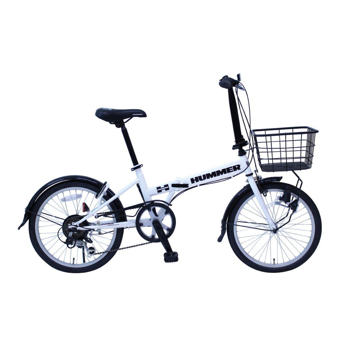 折りたたみ自転車 ハマー 20インチ 折りたたみ自転車 ホワイト HUMMER FDB206SF MG-HM206F-RL B07C93QV3C