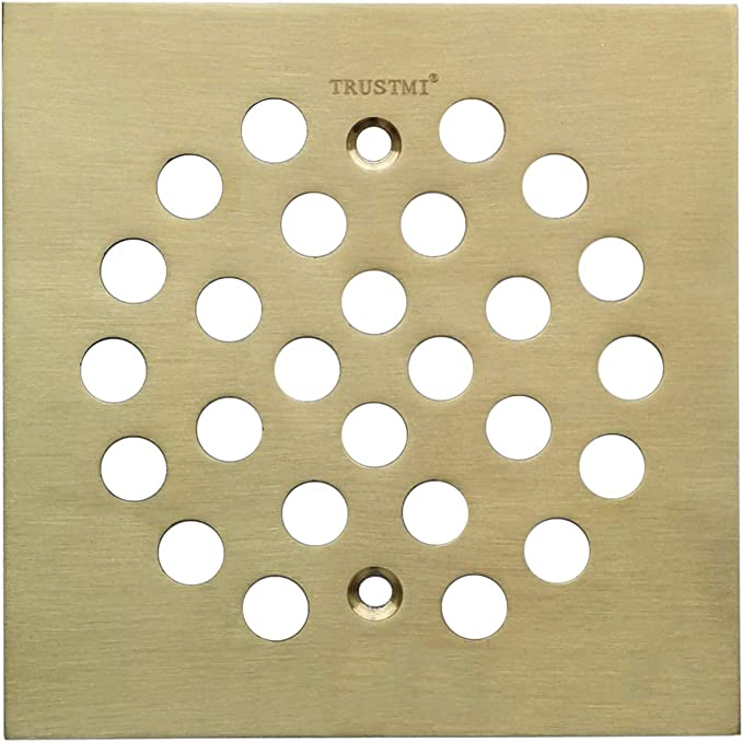 TRUTMI 4-1//4 Inch Snap-in Shower Floor Drain Replacement Cover Brushed Gold