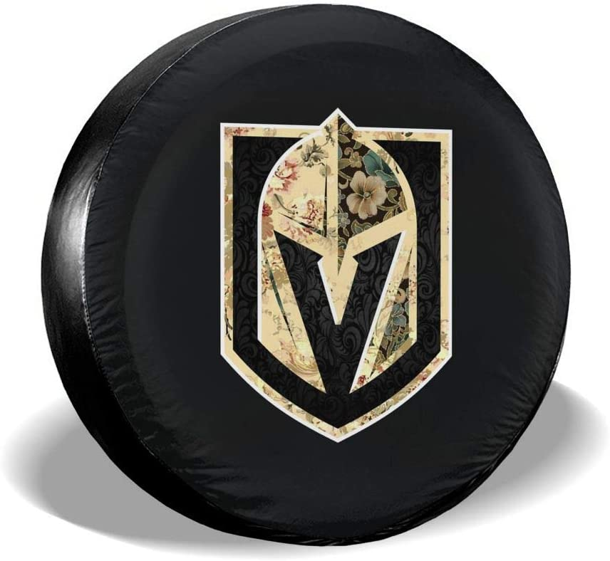 Golden Knights Tire Covers Waterproof Tire Protectors Tire Covers Fits 14 to 17 Florals