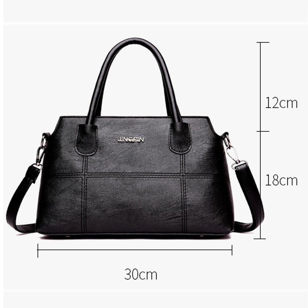 2eff72738f Amazon.com  COOKI Womens Purses and Handbags Leather Splice Crossbody Handbags  Purse Totes Shoulder Top-Handle Travel Bags on Sale Clearance (Black)  ...
