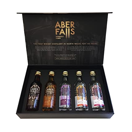 Aber Falls Gin Selection Gift Pack   Box Of 5x 5cl Miniature Bottles by Aber Falls Gin