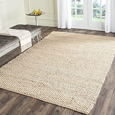 Safavieh Natural Fiber Collection NF459A Hand Woven Natural Jute Area Rug (9' x 12') (Area Rugs Natural Fiber)