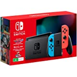 Nintendo Switch Console [Neon Blue/Red] with Mario Kart 8 Deluxe + Switch Online 3 Month Bundle